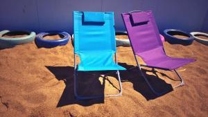 deck chairs on our urban beach