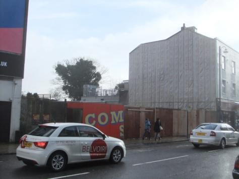 Swansea High Street hoarding